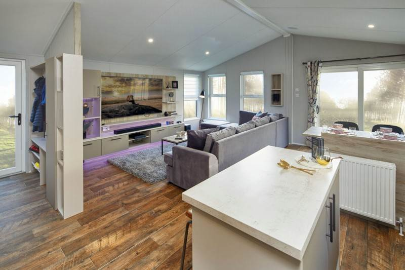 Willerby Mapleton Holiday Lodge Open Plan Lounge